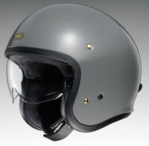 Shoei J.O. Rat Motorcycle Helmet Grey