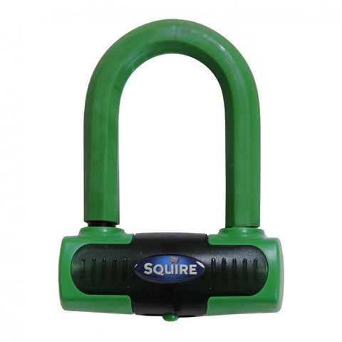 Squire Eiger Motorcycle Green Disc Lock Gold Sold Secure Heavy Duty
