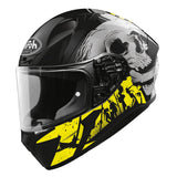 Airoh Valor Full Face Helmet Akuna Gloss Yellow Grey Black ACU Gold Approved