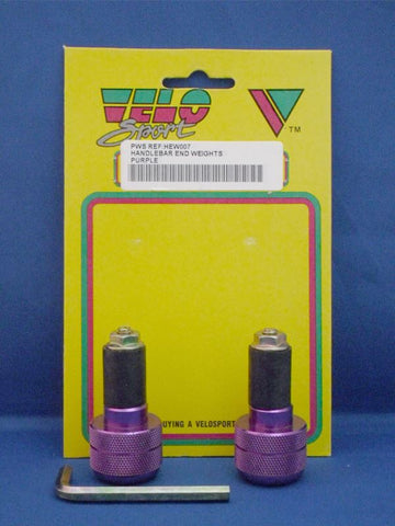 Velo Sport Handlebar End Weight-Purple Pair [HEW007]