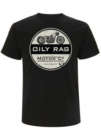 Oily Rag Clothing Retro Motorcycle T-Shirt Black