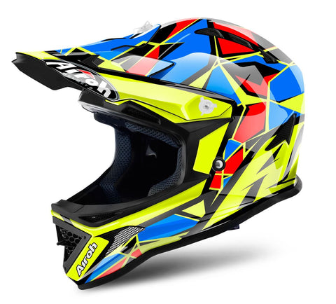 Airoh Archer Junior Chief Helmet Gloss Black/Green/Blue/Red ACU Approved