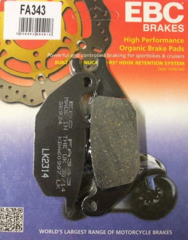 Honda CBR 125 Rear Brake Pads EBC 2004-10
