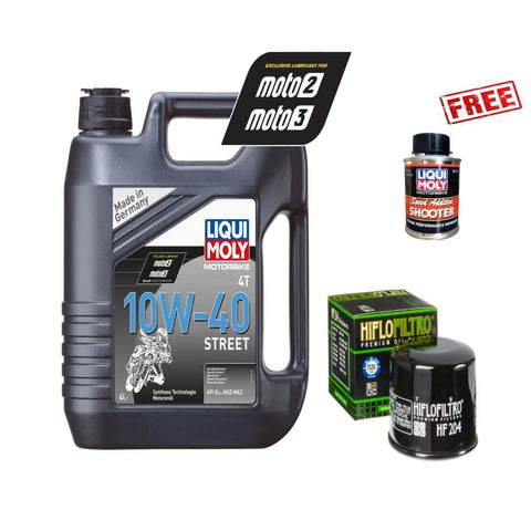Honda VFR800 1200 Liqui Moly Oil Service Kit with Free Liqui Moly Speed Shooter