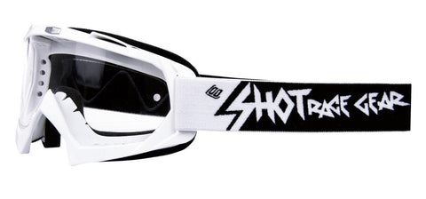 Shot Creed White Motocross MX Goggles Clear Lens