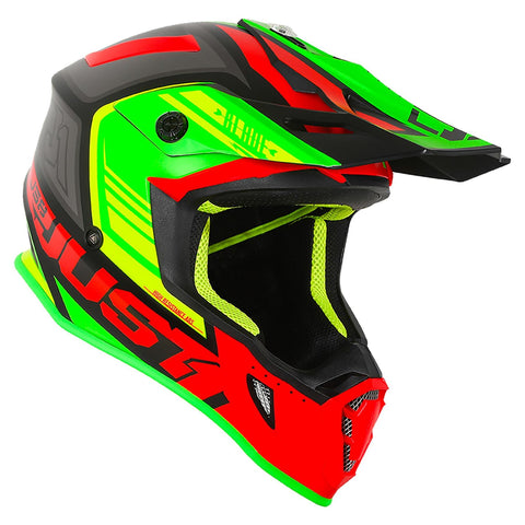 Just 1 J38 Motocross Helmet Blade Lime Green Red MX Gold ACU Off Road