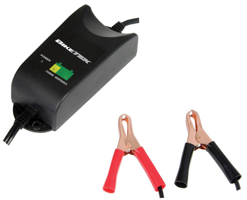 Motorcycle Battery 9 Stage Charger 12V 1.0A UK Plug