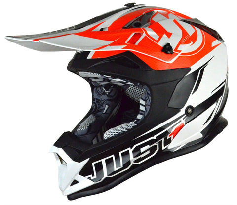 Just1 J32 Rave Motocross Helmet Orange Gold ACU