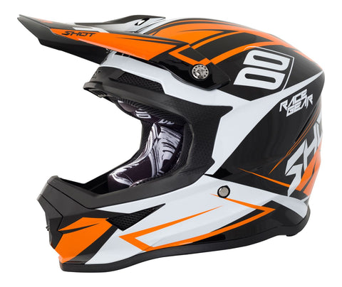 Allarme furioso Full Face Motocross Helmet Black Orange ACU Approvato
