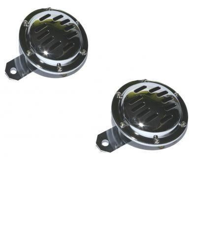 Pair Motorcycle Horns 12V 110db Chrome