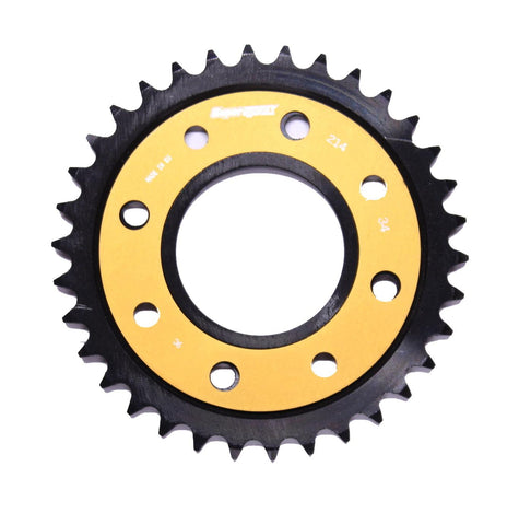Honda MSX125 Monkey Bike Supersprox Edge Rear Sprocket 212-34 Black Gold