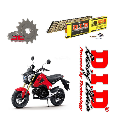 Honda MSX125 Grom DID Gold Chain and Sprocket Kit