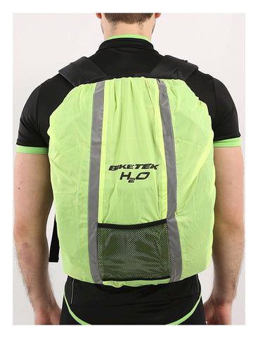 Biketek Motorcycle Hi Vis Safety Reflective Waterproof Rucksack Packback Hump Cover