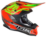 Just1 J32 Rave Motocross Helmet Red Gold ACU
