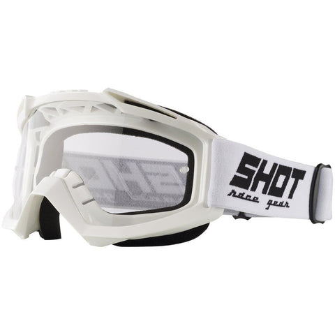 Shot Assault Motocross Goggles White Clear Lens One Size