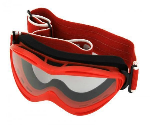 Bike It WSGG Kids Racing MX Off-Road Goggles Red Scratch Resistant