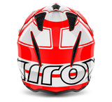 Airoh Trr S Wintage Helmet Gloss Red/White/Black ACU Approved