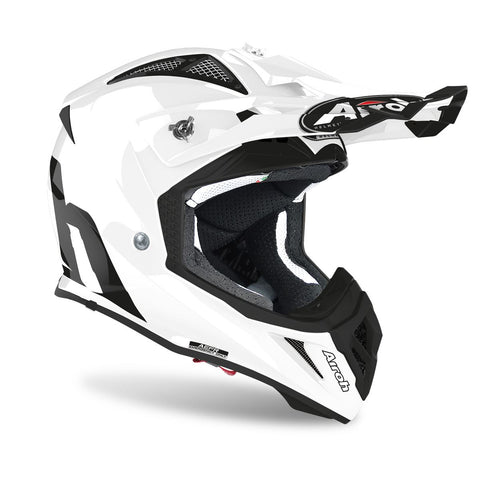 Airoh Aviator Ace Motocross & ATV Helmet Gloss / White