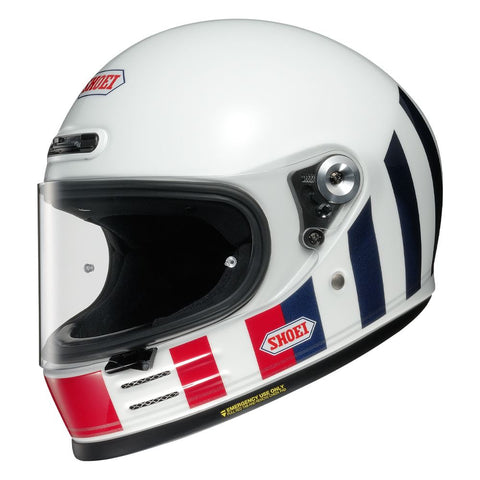 Shoei Glamster Resurrection TC10 // Motorcycle Helmet White/Red/Blue
