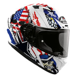 Airoh Valor Full Face Helmet Uncle Sam Matt Blue White Red ACU Gold Approved