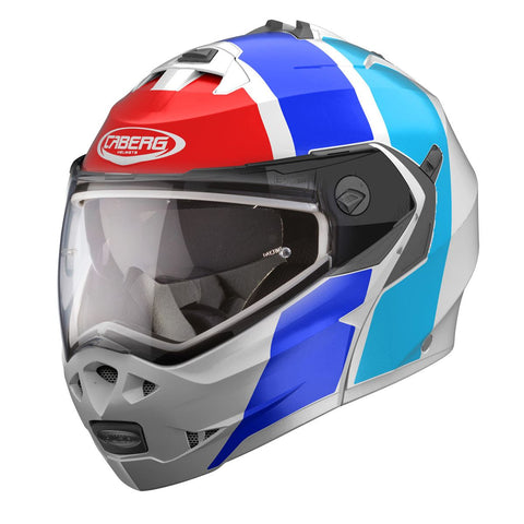 Caberg Duke II Impact /// Motorcycle Helmet White//Blue/Red
