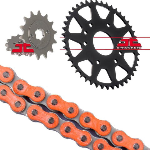 KTM Duke 125 Catena e Sprocket Kit Orange RK Racing X Anello 14-17