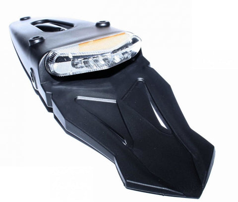 Motorcycle Rear Mudguard With LED Tail Light Integrated Indicators