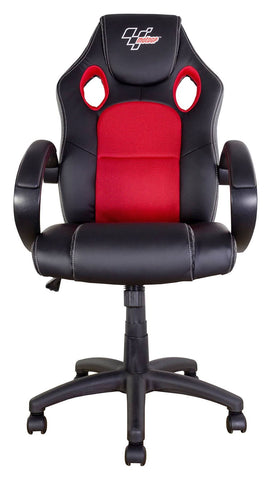 MotoGP Rider Chair Black With Red Trim