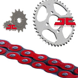 Honda CBR125 R Chain and Sprocket Kit Red RK Racing JT Sprockets 2004-10