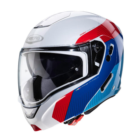 Caberg Horus Scout /// Motorcycle Helmet White/Red//Blue