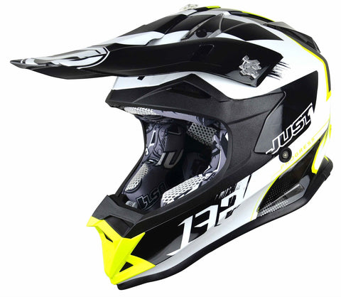 Just1 J32 Rave Motocross Helmet White Gold ACU