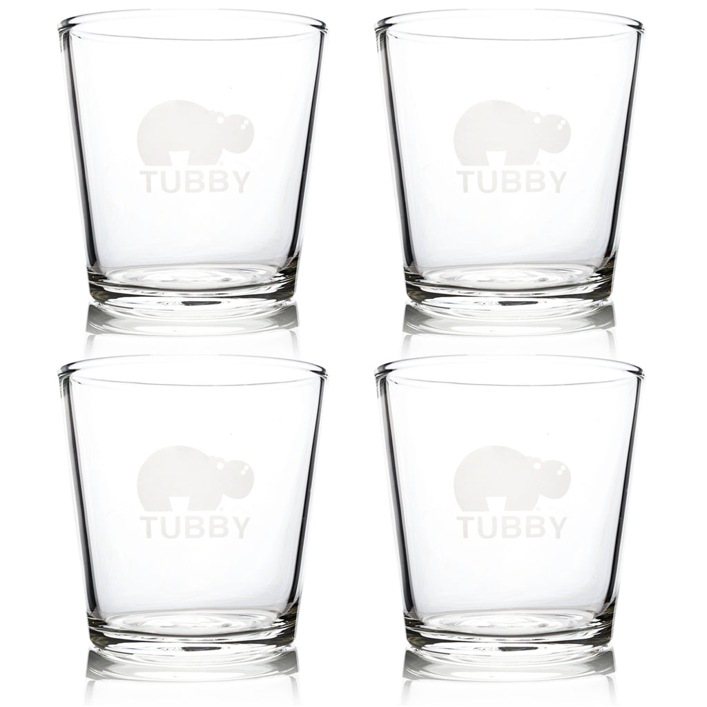 The Tubby - The Ultimate 16 oz Pint Glass (4 Pack)