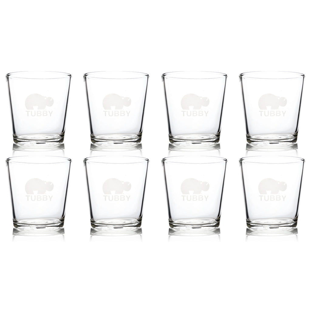 The Tubby - The Ultimate 16 oz Pint Glass (8 Pack)