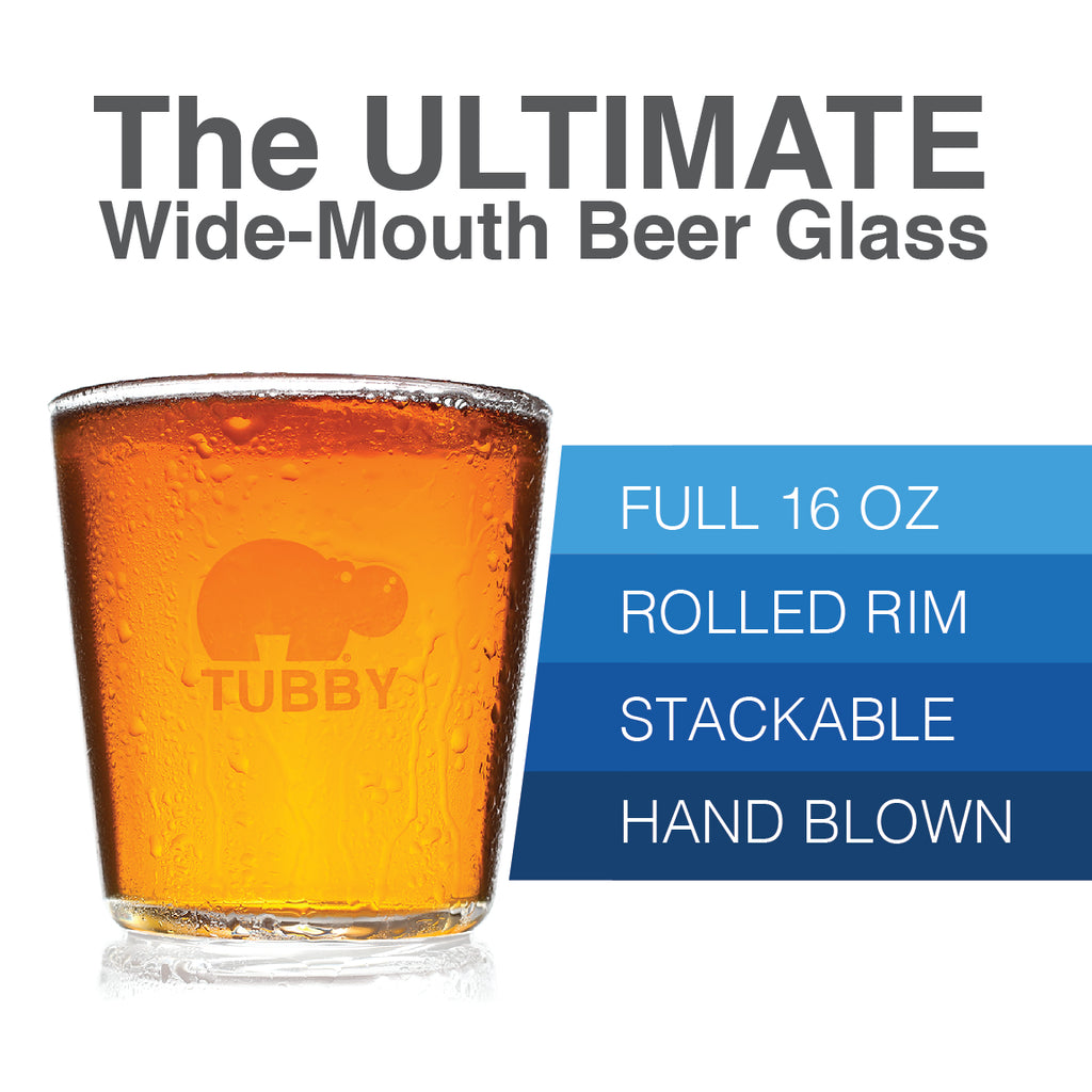 The Tubby - The Ultimate 16 oz Pint Glass (2 Pack)