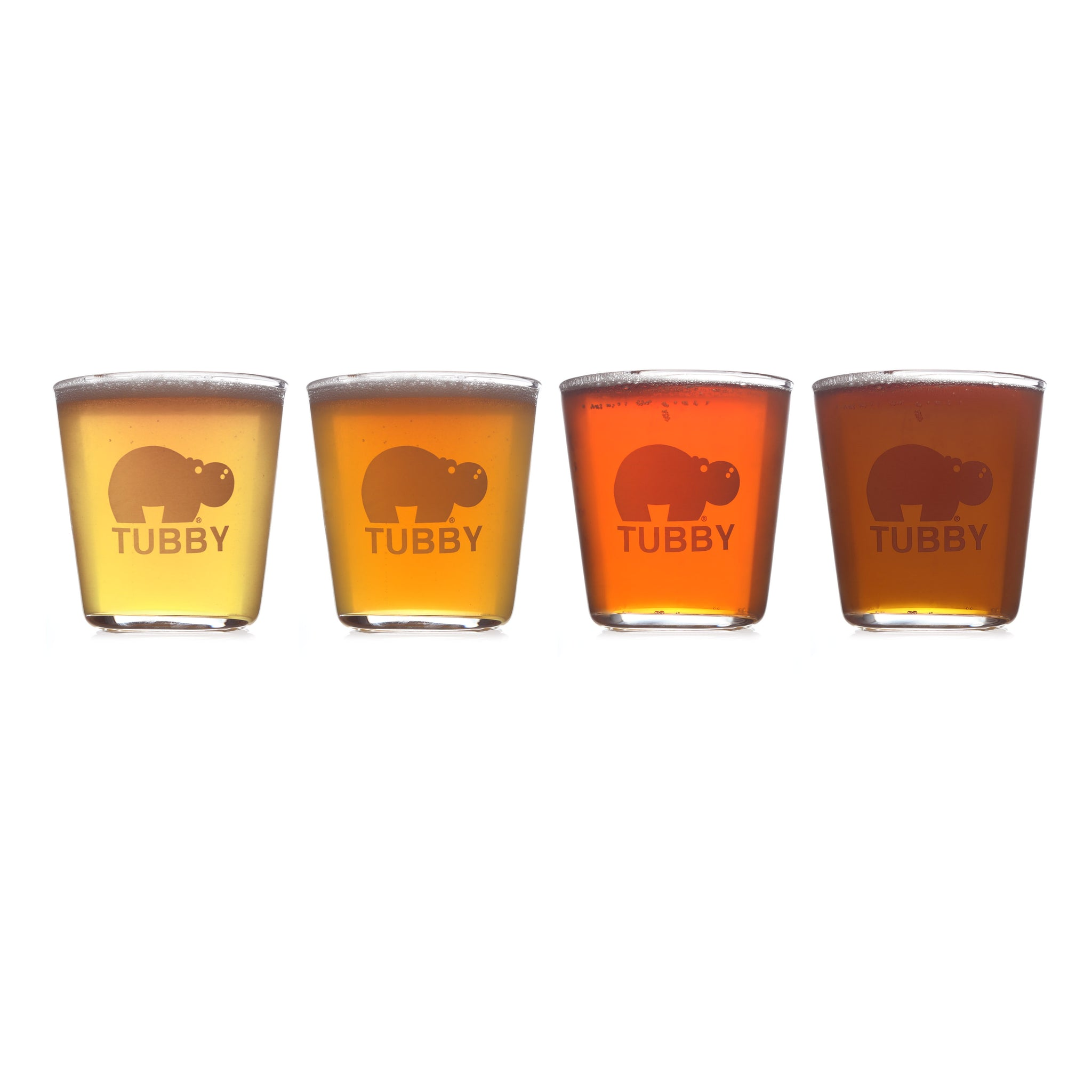 Tubby Flight Glasses - 4 Pack