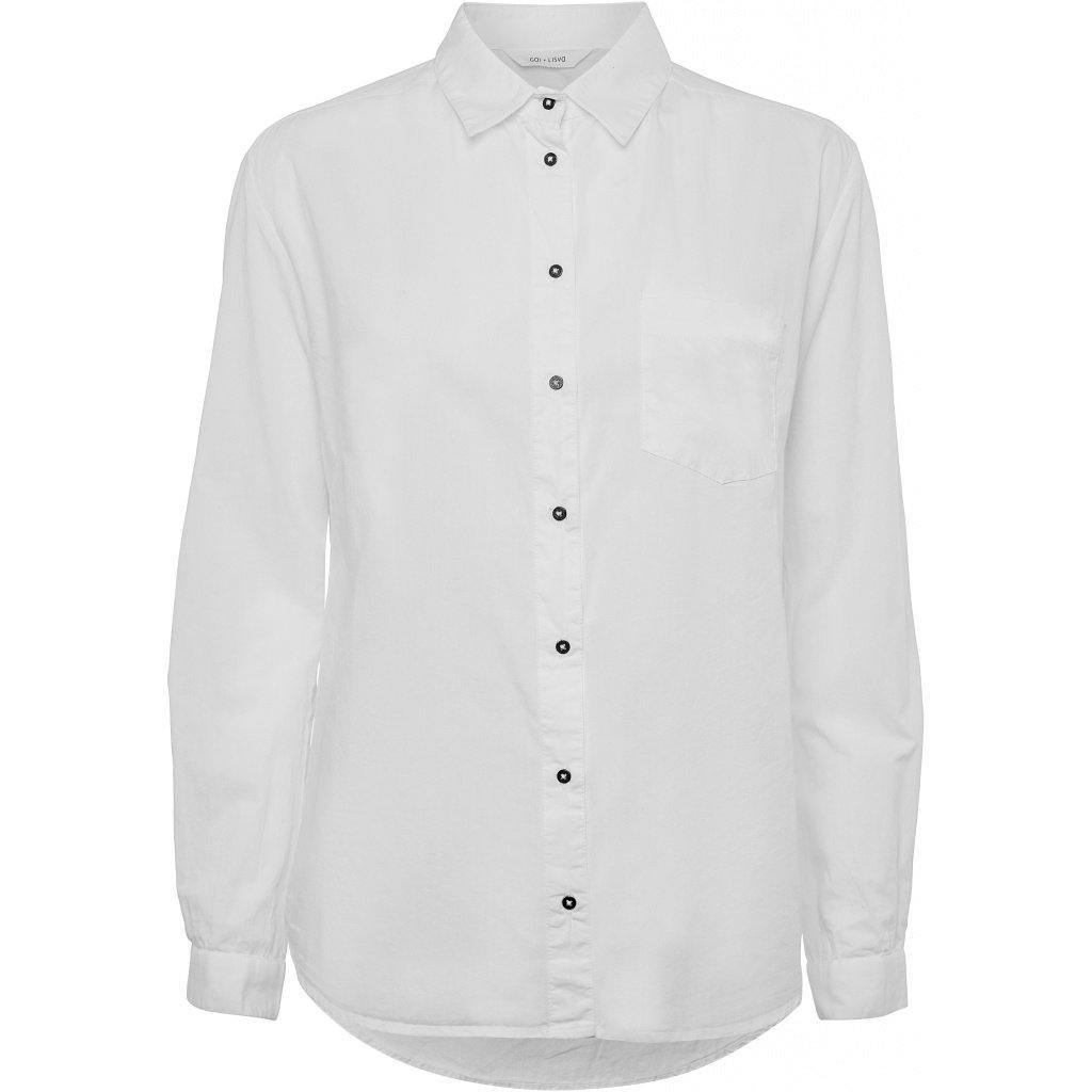 Chemise blanche manches longues - Lysa Couture