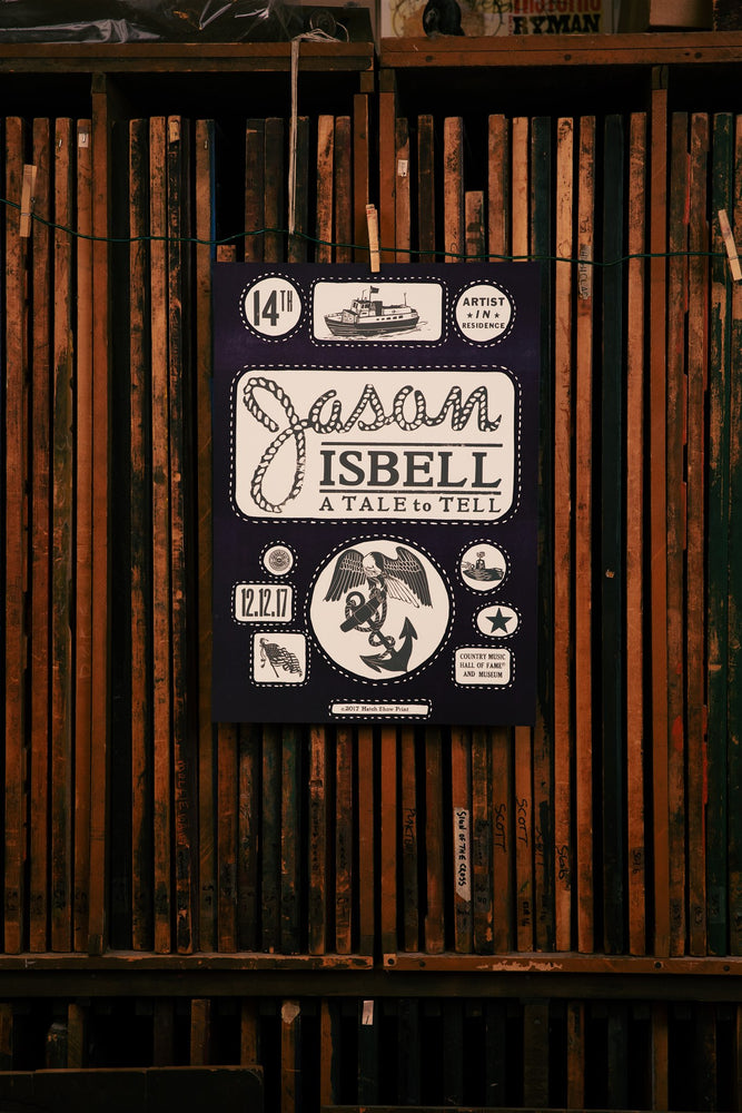 Load image into Gallery viewer, Jason Isbell Artist-In-Residence Poster 12/12/17