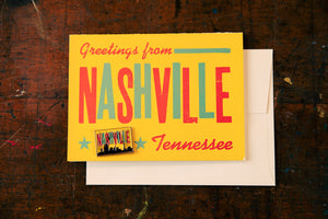 Nashville Enamel Pin Card