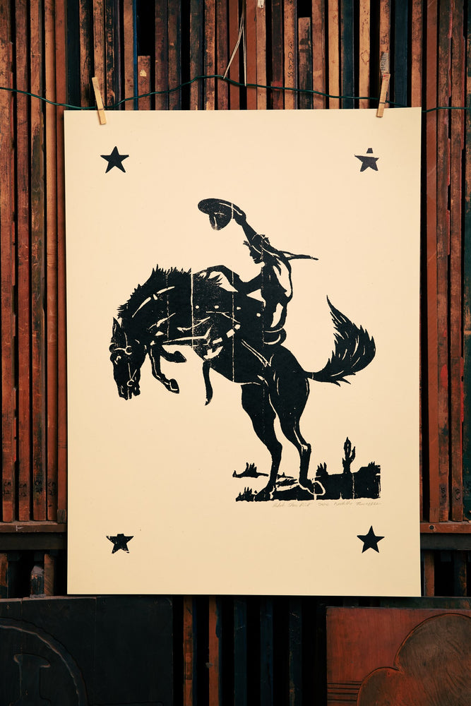 Load image into Gallery viewer, Black Rodeo Print