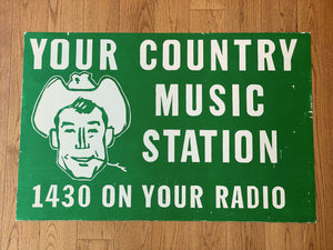 Country Music 1430 On Your Radio Print