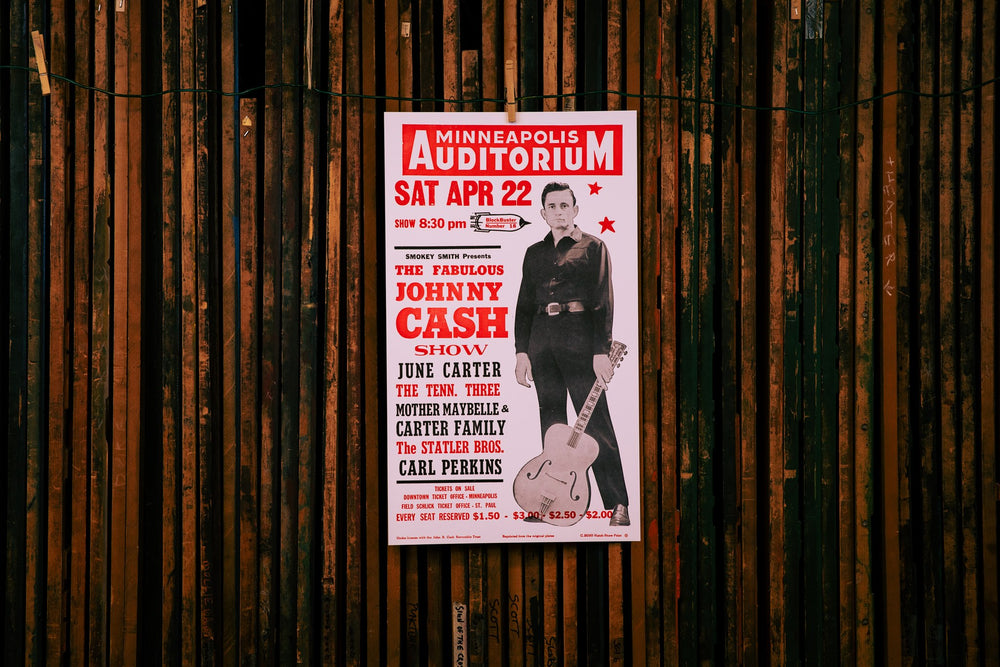 Johnny Cash Show Poster