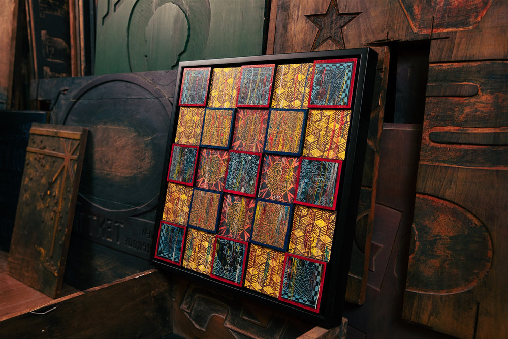 Load image into Gallery viewer, Jim Sherraden - 5 x 5 Wooden Quilt Framed