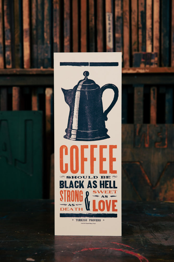 Black Coffee Wood Plaque