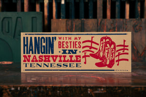Load image into Gallery viewer, Hangin' With My Besties in Nashville Wood Plaque