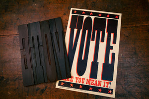 Vote Like You Mean It Poster