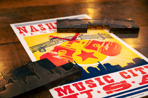 Load image into Gallery viewer, Nashville Music City USA Poster