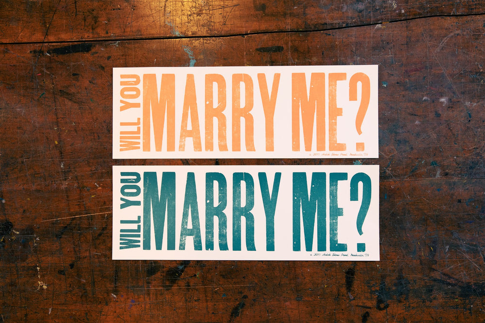 Load image into Gallery viewer, Will You Marry Me Poster