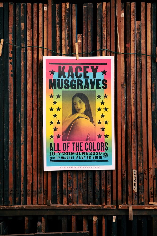 Kacey Musgraves All of the Colors Exhibit Poster