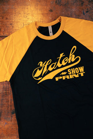 Hatch Black & Gold Raglan T-Shirt