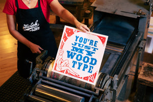 Just My Wood Type Square Poster